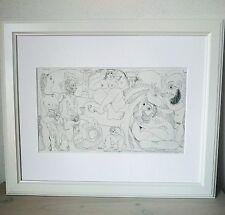 Pablo Picasso - ORIGINAL VINTAGE ART - 1970 Grabado Suite 347 - Print Etching #3