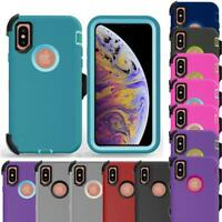 For Apple iPhone XS Max Rugged Case Tempered Screen Protector Fit Otterbox Clip