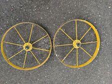 """Set Of Vintage John Deere Metal 16"""" Wheels"""