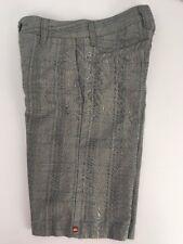 QUICKSILVER Plaid Shorts Boys Sz 25 or 10 *Very nice* gray/blue/yellow
