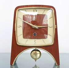 HERMLE HAID Mantel TOP! Clock Germany Mid 1950s Mid Century PENDULUM 8 Day Shelf