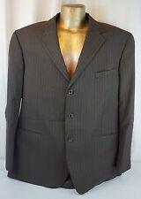 ANDREW FEZZA Men's Suit Jacket Blazer Sport Coat Dark Brown Pin-stripe 48