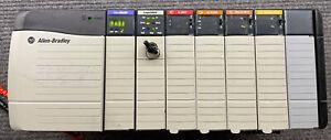 ALLEN BRADLEY CONTROL LOGIX LOADED 7 SLOT RACK COMPLETE SYSTEM Inout & Output