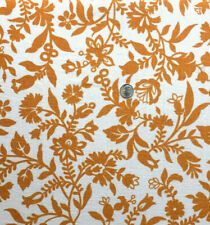 "Vintage Full Feed Sack Lovely Small Golden Brown Floral  on White  41"" x 37"""