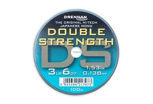 Drennan Double Strength Line 100m Spools All Sizes