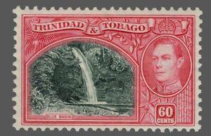 Trinidad & Tobago Sc. #59 60c MLH  Wmk.4   KG VI  1938-41