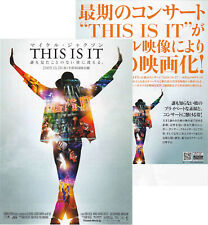 Michael Jackson Prospectus THIS IS IT Movie Film Leaflet Flyer JAPAN PROMO 2009