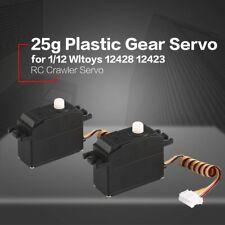 2pcs 25g Plastic Gear Servo for 1/12 Wltoys 12428 12423 Rc Car Truck Model Nd