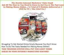 The Newbie Internet Marketers Video Vault   - CD/DVD