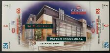 1996 Molson Centre 1st Game Montreal Canadiens New Arena Hockey Full Ticket NHL