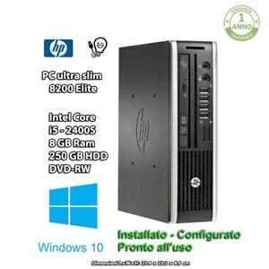 HP 8200 ELITE USDT MINI PC i5 8GB RAM 250GB HDD DVD-RW WIN10PRO