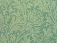 William Morris Curtain Fabric THISTLE 0.65m Eau de Nil 100% Linen Design 65cm
