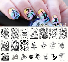 BORN PRETTY Nail Art Stamping Plate Summer Beach Sea Image Template BP-L017