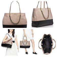 NWT KATE SPADE TOWN ROAD Colorblock FRANCESCA Tan Leather Shoulder Bag $548