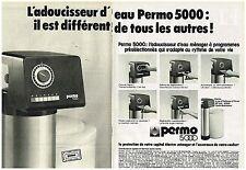 PUBLICITE ADVERTISING  054  1977  PERMO  500   adoucisseur d'eau ( 2 pages)