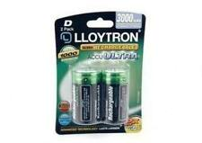 Lloytron B017 2 x NIMH AccuUltra High Capacity Rechargeable D Batteries 3000mAh