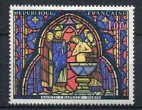 FRANCE 1966 timbre 1492, TABLEAU VITRAIL de la SAINTE CHAPELLE, JUDAS, neuf**