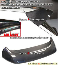 MS-Style Rear Roof Spoiler Wing (Carbon) Fits 10-13 Mazda 3 Hatch 5dr