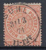 1040) SUHL Thüringen Stempel 1871 auf Mi.-Nr. 15