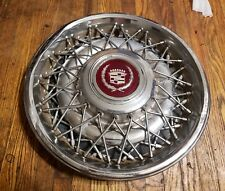 "(1) 1986-92 Cadillac Fleetwood Brougham RWD 15"" Wire Spoke Hubcap Wheel Cover A4"