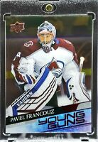 2020 Upper Deck Pavel Francouz RC Young Guns Clear Cut Avalanche Great Card!