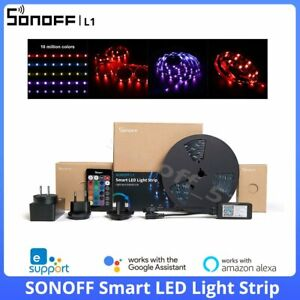 SONOFF Smart LED Strip Lights RGB Colour Changing Tape Cabinet Kitchen Lighting