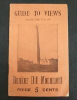 Antique Booklet Strangers Guide To Views of Bunker Hill Monument