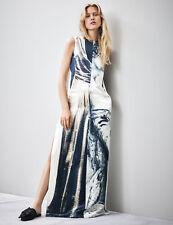 H&M Conscious Exclusive Collection Silk Hemp Blend Print Long Dress UK8/EU34/US4