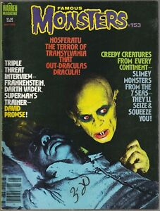 FAMOUS MONSTERS 153 Dave Prowse Vader Nosferatu Boris Karloff 1979 MAGAZINE fn