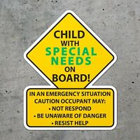 Special Needs Awareness Alert First Responders Decal Sticker. Die Cut Two Sizes