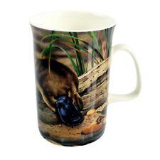 Australian Souvenir Australia Fauna Platypus & Turtle Fine Bone China Can Mug