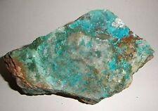 Chrysocolla & Malachite in Quartz. Macnamara mine, Mount Isa, Queensland.   S351
