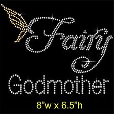 Fairy Godmother Rhinestone Transfer Hotfix Iron on Motif Appliqué and Free Gift