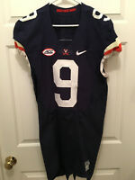 Virginia UVA Cavaliers Andrew Brown Football Game Worn Blue White Jersey