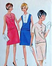 Vintage 60's  8604 Misses Two Piece Dress Pattern Sz 14 Bust 34  UNCUT