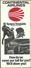Continental Airlines system timetable 6/1/75 [8102]