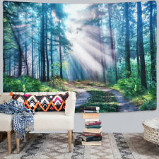 Sunshine Throw Forest Tree Tapestry Room Bedspread Wall Hanging Tapestries Decor