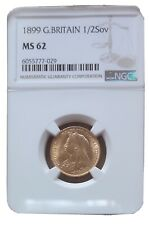 More details for gold half sovereign queen victoria 1899 ngc ms 62
