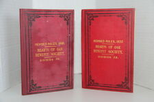 Hearts of Oak Benefit Society Revised Rules 1888, 1893 Division 38 George Cook