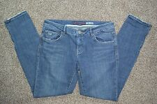 Chip And Pepper Steamer Lane Skinny Zipper Leg Distressed Blue Jeans Size 11