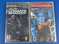 PSP Two Games - Syphon Filter Logan's Shadow and Dark Mirror BRAND NEW SEALED