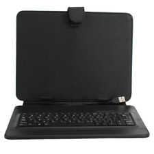 Russian keyboard leather case pouch with stand for 9.7 inch tablet pc