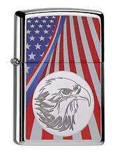 ZIPPO ® Eagle and Flag-Adler e degli Stati Uniti bandiera-Stars and Stripes-NEW/Nuovo OVP