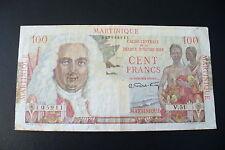 RARE  BILLET MARTINIQUE  FRANCE - 100 FRS - QUALITEE  TTB  (1/11/16)