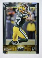 2015 Topps Chrome #21A Jordy Nelson green jersey - NM-MT