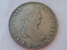 8 reales de 1822 CECA de Zacatecas, rara, Fernando VII, FALSA, No es de Plata