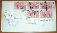 Alliierte Zensurstelle Z. 1 143 Brief Chicago USA 1952 Besetzung Österreich (80
