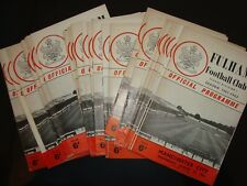 Full set of Fulham home 1961-62 programmes, 25 in all
