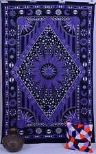 Celestial Burning Sun Tapestry Throw Sun Moon Stars Wall Hanging Hippiy Bedsheet