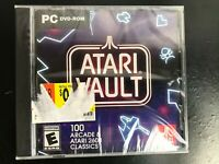 New! ATARI VAULT *100 Arcade & 2600 CLASSICS* Games PC DVD-ROM - FACTORY SEALED!